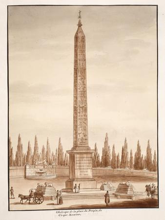 The Piazza Del Popolo Obelisk, from the Circus Maximus, 1833