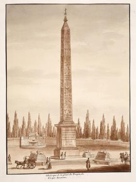 The Piazza Del Popolo Obelisk, from the Circus Maximus, 1833 by Agostino Tofanelli