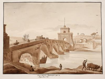 The Restoration of Ponte Milvio by Pope Pius Vii, 1833