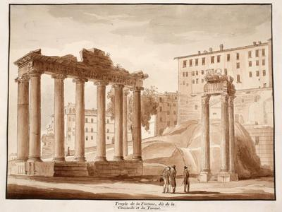 The Temple of Fortune, known as the Temple of Concord and the Temple of Jupiter Tonans, 1833