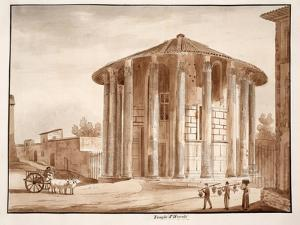 The Temple of Hercules Victor, 1833 by Agostino Tofanelli
