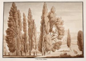 The Villa D'Este, 1833 by Agostino Tofanelli