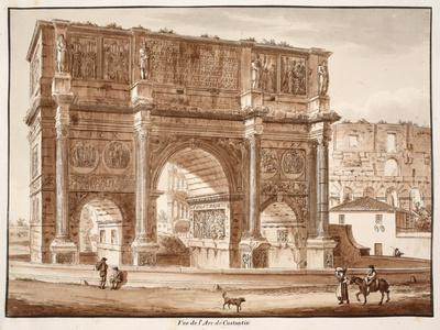 View of the Arch of Constantine, 1833