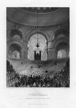 Anniversary of the London Charity Schools, St Paul's Cathedral, London, 19th Century by AH Payne