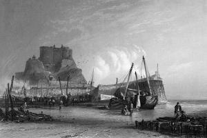 Jersey, Mont Orgueil 1835 by AH Payne
