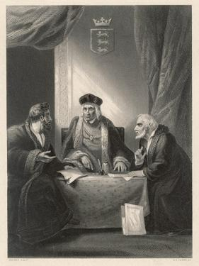 King Henry VII and Ministers by AH Payne