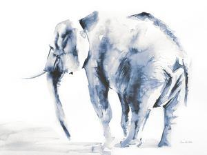 Lone Elephant Blue Gray Crop by Aimee Del Valle