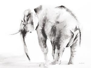 Lone Elephant Gray Crop by Aimee Del Valle