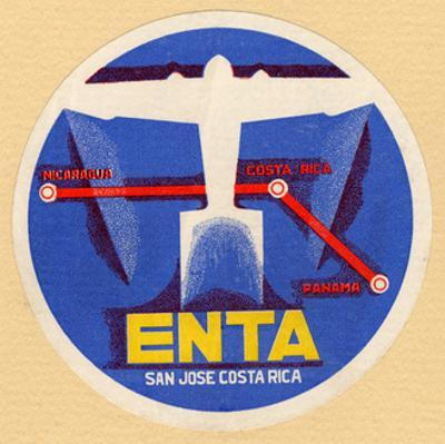 Air and Space: ENTA Baggage Label