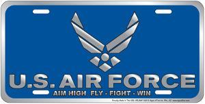 Air Force - Aim High Embossed Tin Sign
