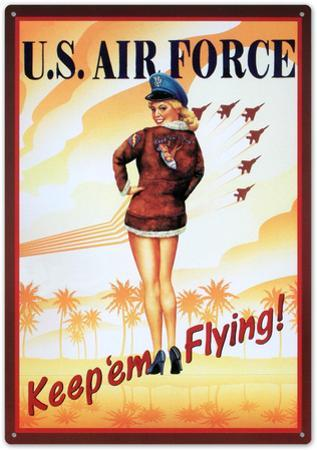 Air Force Keep Em Flying Sexy Girl