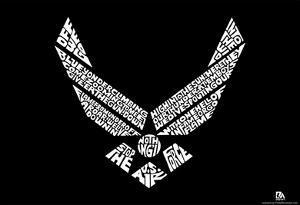Air Force Logo Wild Blue Yonder Lyrics Poster