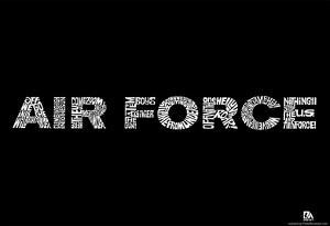 Air Force Wild Blue Yonder Lyrics Poster