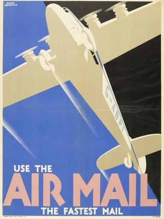 Air Mails: Publicity Poster by F Newbould
