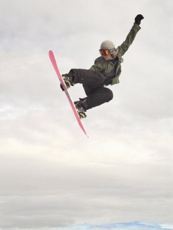 Airborne Snowboarder