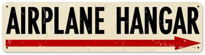 Airplane Hangar Steel Sign