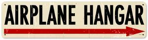 Airplane Hangar Steel Sign