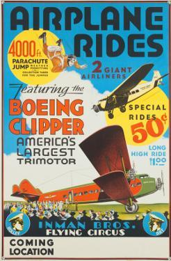 """Airplane Rides: Featuring the Boeing Clipper, America's Largest Trimotor"", 1929"