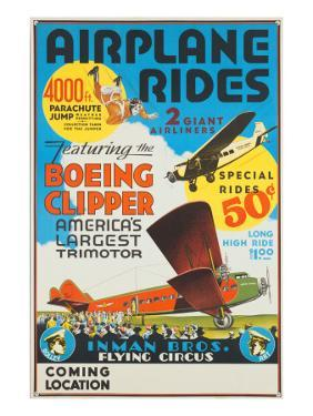 """""""Airplane Rides: Featuring the Boeing Clipper, America's Largest Trimotor"""", 1929"""