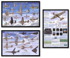 Airplanes Framed Poster Set
