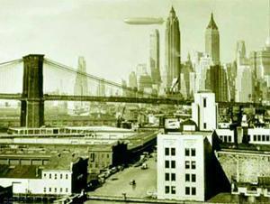 Airship N.Y.C., 1938