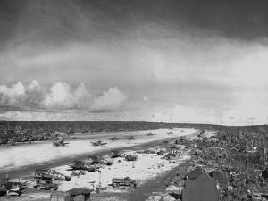 Airstrip on Orote Peninsula Captured by U.S. Marines in the Battle of Guam