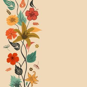 Abstract Floral Background by aispl