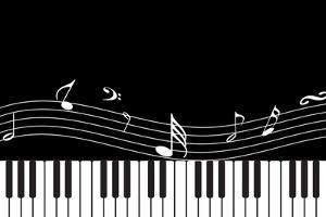 Vector Piano Musical Abstract Background by aispl