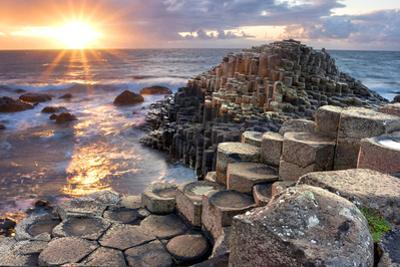 Sunset at Giant S Causeway by Aitormmfoto