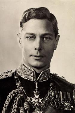 Ak His Majesty King George Vi., Portrait, Uniform, Medals
