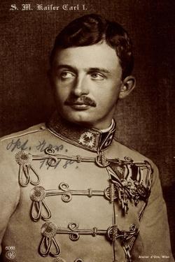 Ak S.M. Kaiser Carl I Von Österreich, Npg 6068, Husarenuniform