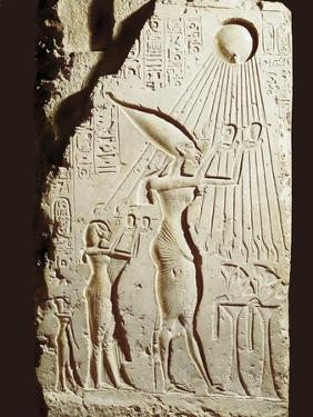 Akhenaten and His Family Offering to the Sun-God Aten