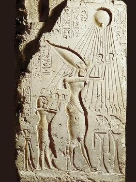 Akhenaten and His Family Offering to the Sun-God Aten