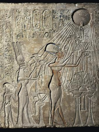 Akhenaten and His Family to the Aten