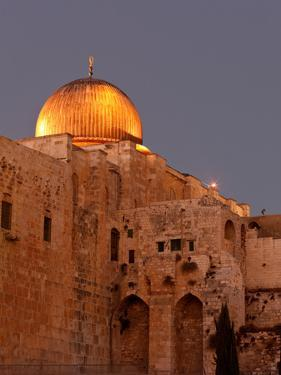 Al-Aqsa Mosque with the Dome of the Rock in the Background, Jerusalem, Israel