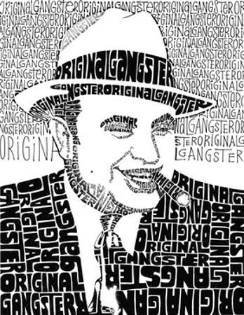 Al Capone on White Text Poster