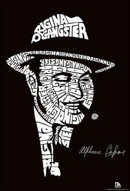 Al Capone Text Poster