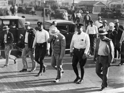 Al Capone under Arrest in Miami Beach, May 1930