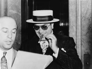 Al Capone, with a Big Smile, Leaving Federal Building in Miami, Florida, 1941