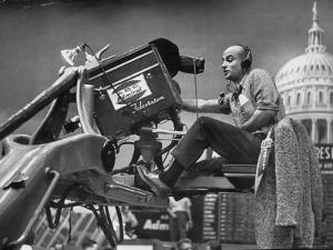 Man Operating Television Camera by Al Fenn