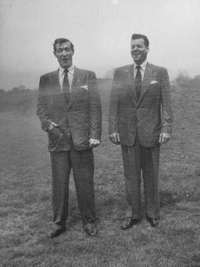 Men in Suits are Sprayed with Hose, Wool Blended with New Material Dacron vs Tropical Worsted Suit by Al Fenn