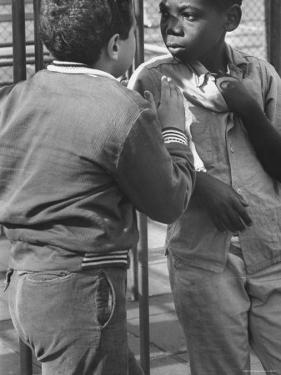 Michael Ketosugbo with a School Mate After a Fist Fight by Al Fenn