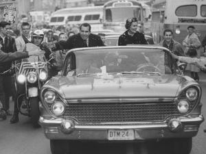Richard M. Nixon and His Wife During the GOP Campaigning by Al Fenn