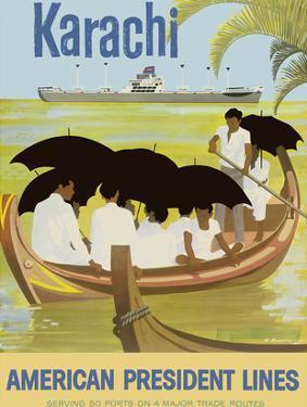 Karachi - Pakistan - Boat - American President Lines by Al Merenchen