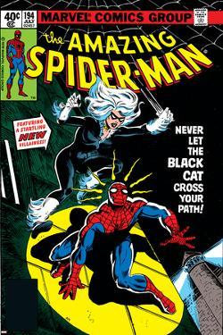 Amazing Spider-Man No.194 Cover: Spider-Man and Black Cat by Al Milgrom