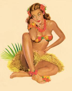 Hawaiian Pin-Up Girl, 1949 by Al Moore