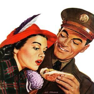 """Hot Dog for a Hot Date,"" October 10, 1942 by Al Moore"