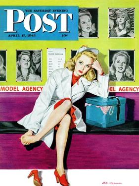 """The Model,"" Saturday Evening Post Cover, April 17, 1943 by Al Moore"