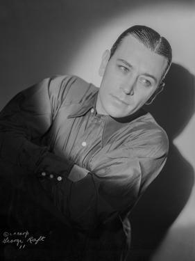 George Raft wearing Tuxedo Black and White by AL Schafer