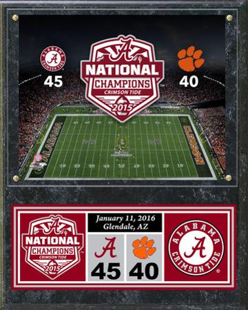 Alabama Crimson Tide 2015 National Champions Plaque